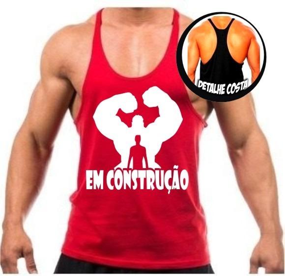Regata Cavada Masculina P  Academia Musculação Fitness Top - R  24 ... 6474a9de656