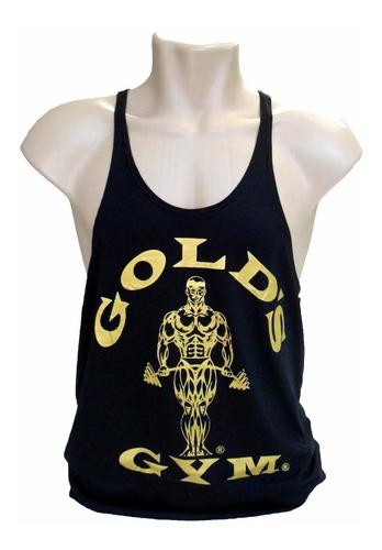 regata cavada musculação gold's gym ouro para treino