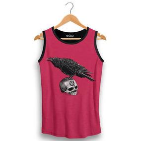 97c911fbca Regata Caveira Com Rosa - Camisetas Masculino no Mercado Livre Brasil