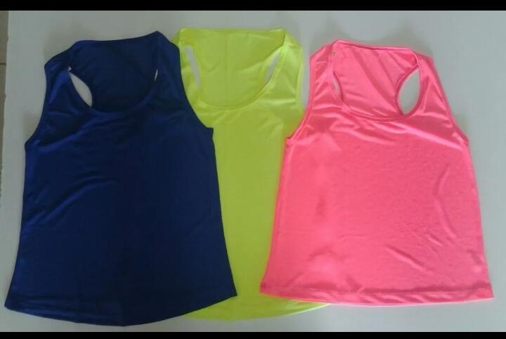 9e1ca5b3d9 Regata Dry Fit Feminina Camiseta Roupa Academia Blusa Cores - R  25 ...