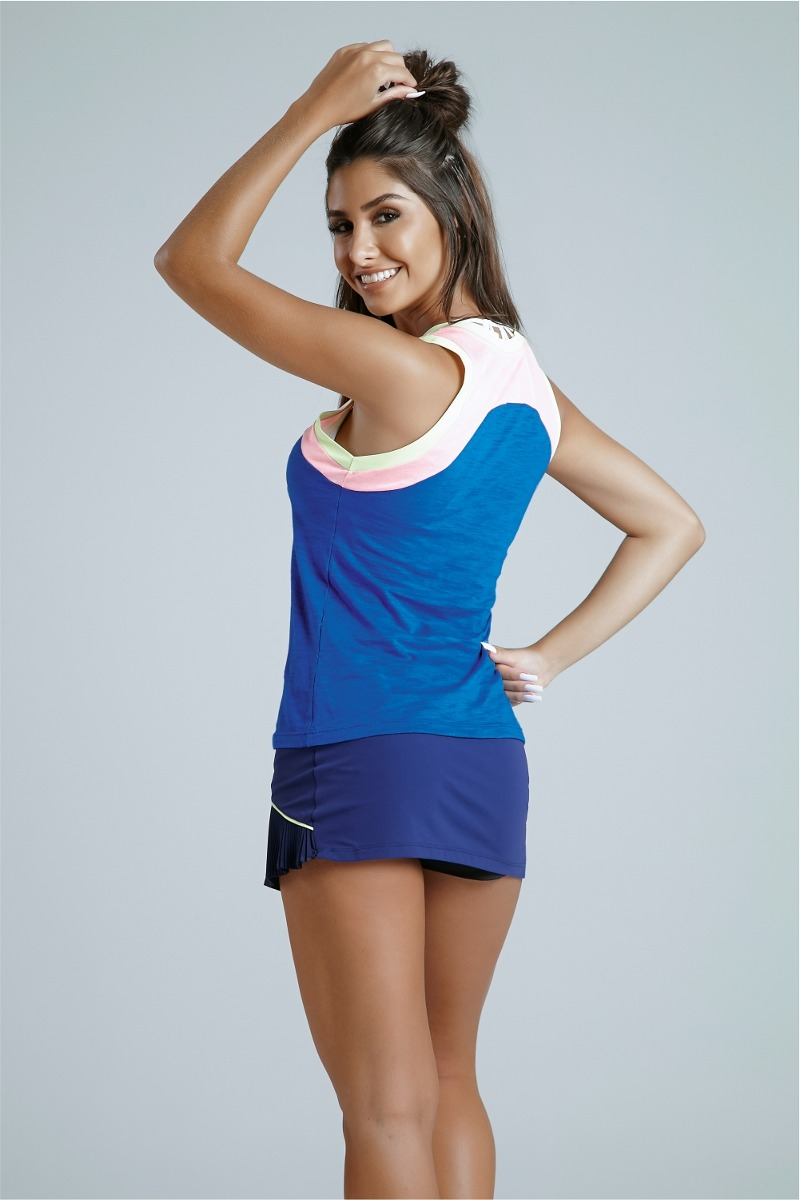 regata feminina blusa academia fitness marca alto giro azul. Carregando  zoom. 1f1c03102e