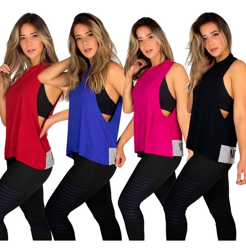 regata feminina fintess roupas de academia malhar 9575
