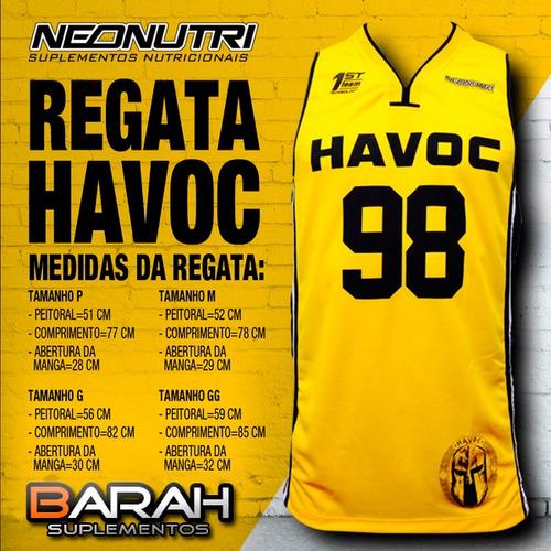regata havoc neonutri - amarela - 100% original