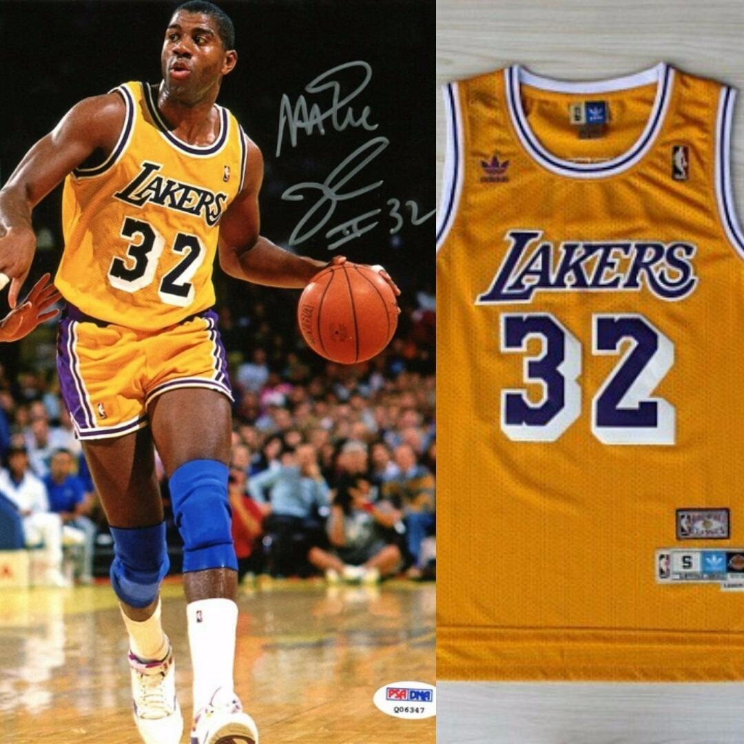super popular fe26c 617db Regata Jersey Los Angeles Lakers - Magic Johnson 32