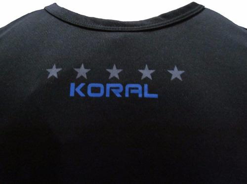 regata koral fight brasão preta