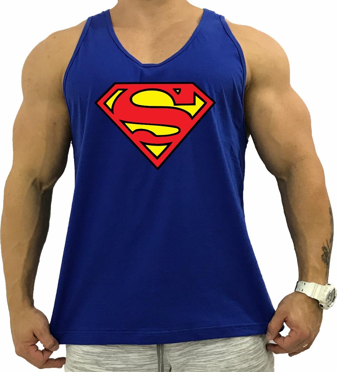 13c42d326 Carregando zoom... regata masculina cavada azul super homem superman heroi