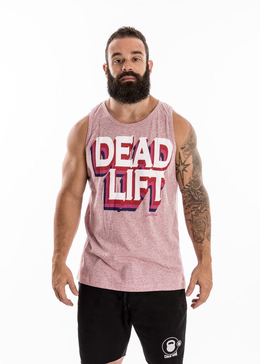 regata masculina deadlift rosa casal wod- crossfit. Carregando zoom. 5f3e842ccb9