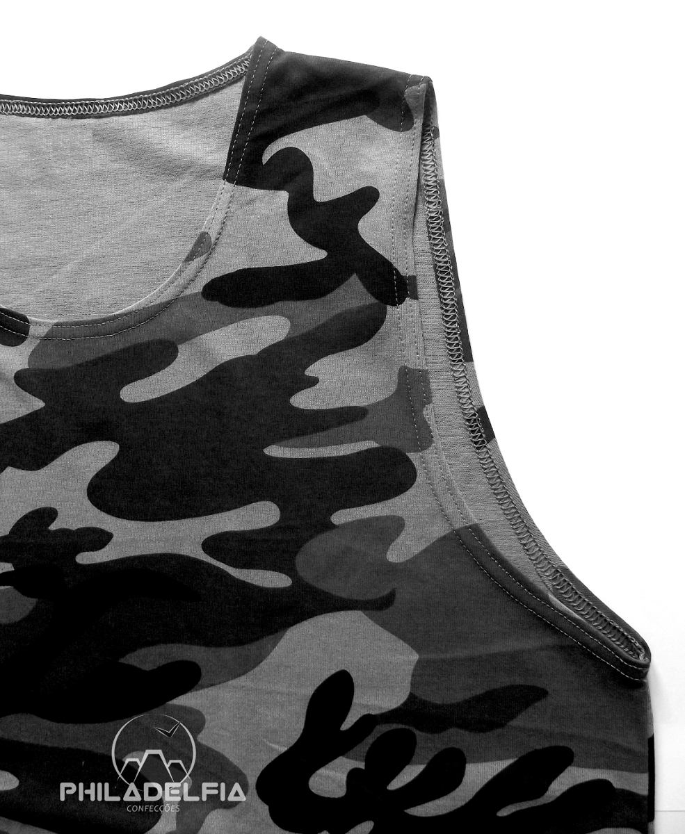 regata masculina militar camuflada p  m  g  gg 100% algodão. Carregando  zoom. 2e97f70a955