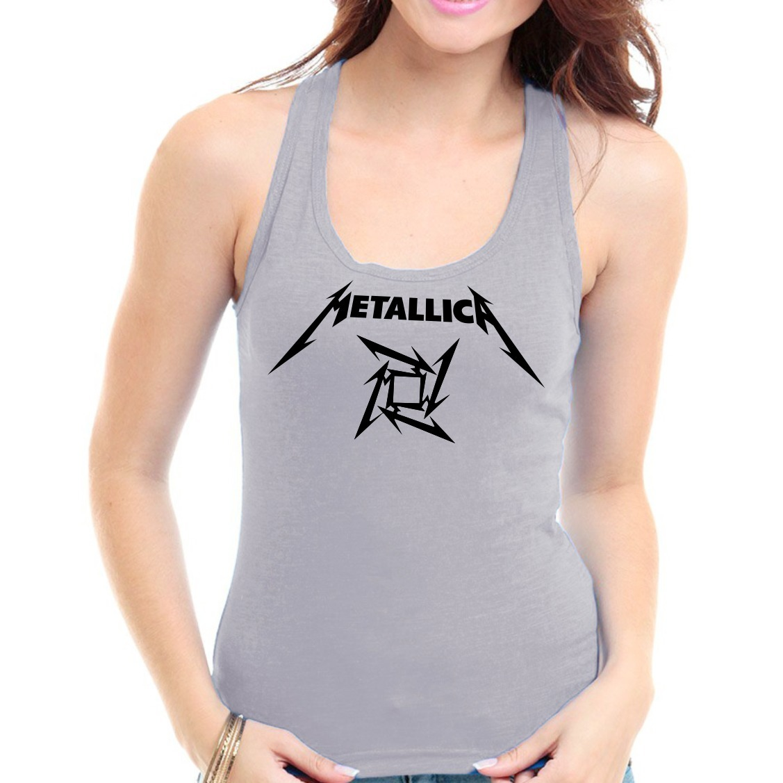regata metallica - feminina camiseta banda rock heavy metal. Carregando zoom . 698ac0b886a