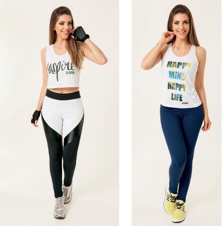 fab5a9e7b Regata Moda Fitness Feminina Roupa De Poliamida Estampada - R  13