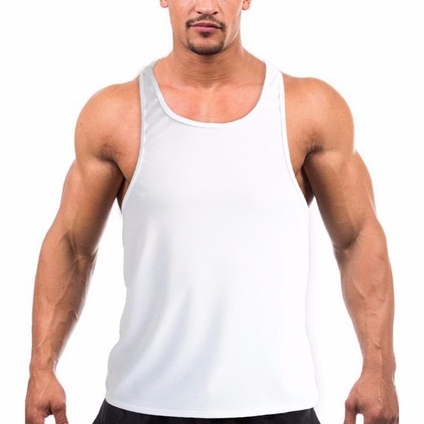 47657611d1 Regata Cavada Masculina Academia Musculação Fitness Toptank - R  15 ...