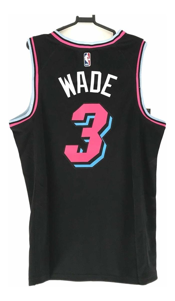 sports shoes c3ecc 46d02 Regata Nba Nike Miami Heat City Edition Dwayne Wade 3