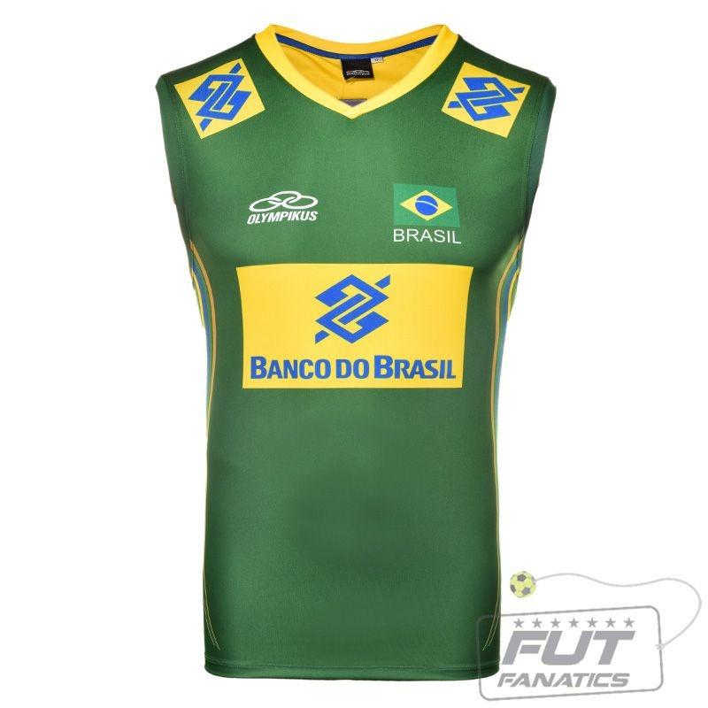8a929d47504a9 regata olympikus brasil vôlei cbv 2014 verde - futfanatics. Carregando zoom.