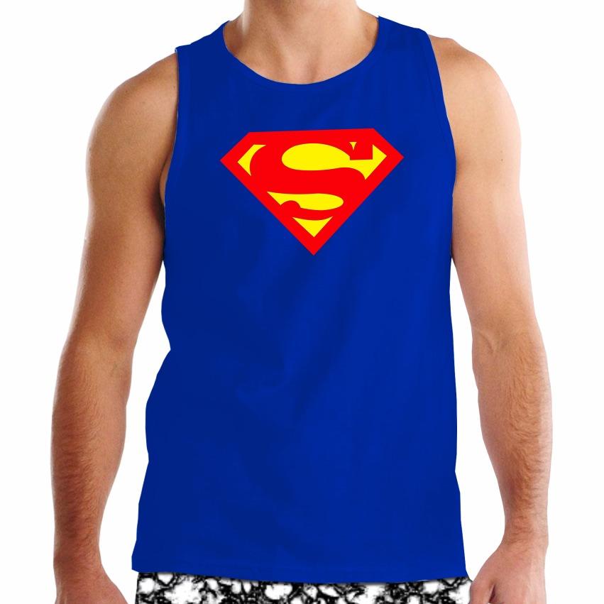 83cb97dc9 Regata Superman - Masculina - Algodão - Super Homem - Heróis - R  44 ...