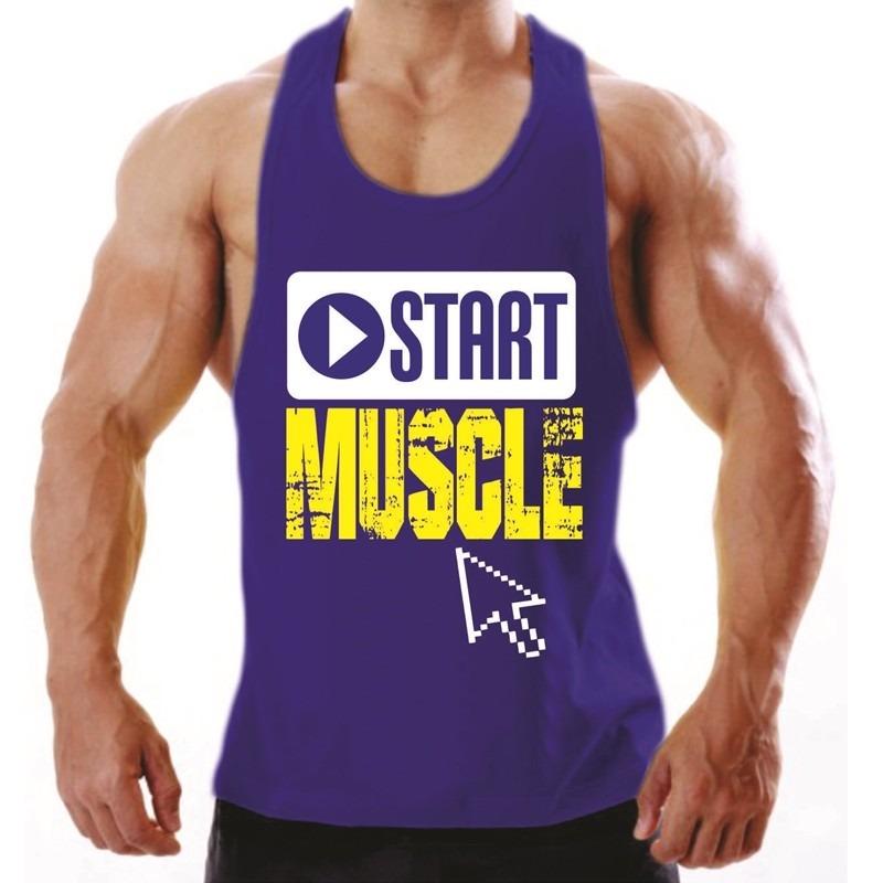 Regatas Masculinas Para Musculação E Treino Algodão Penteado - R  37 ... f97c6c75652