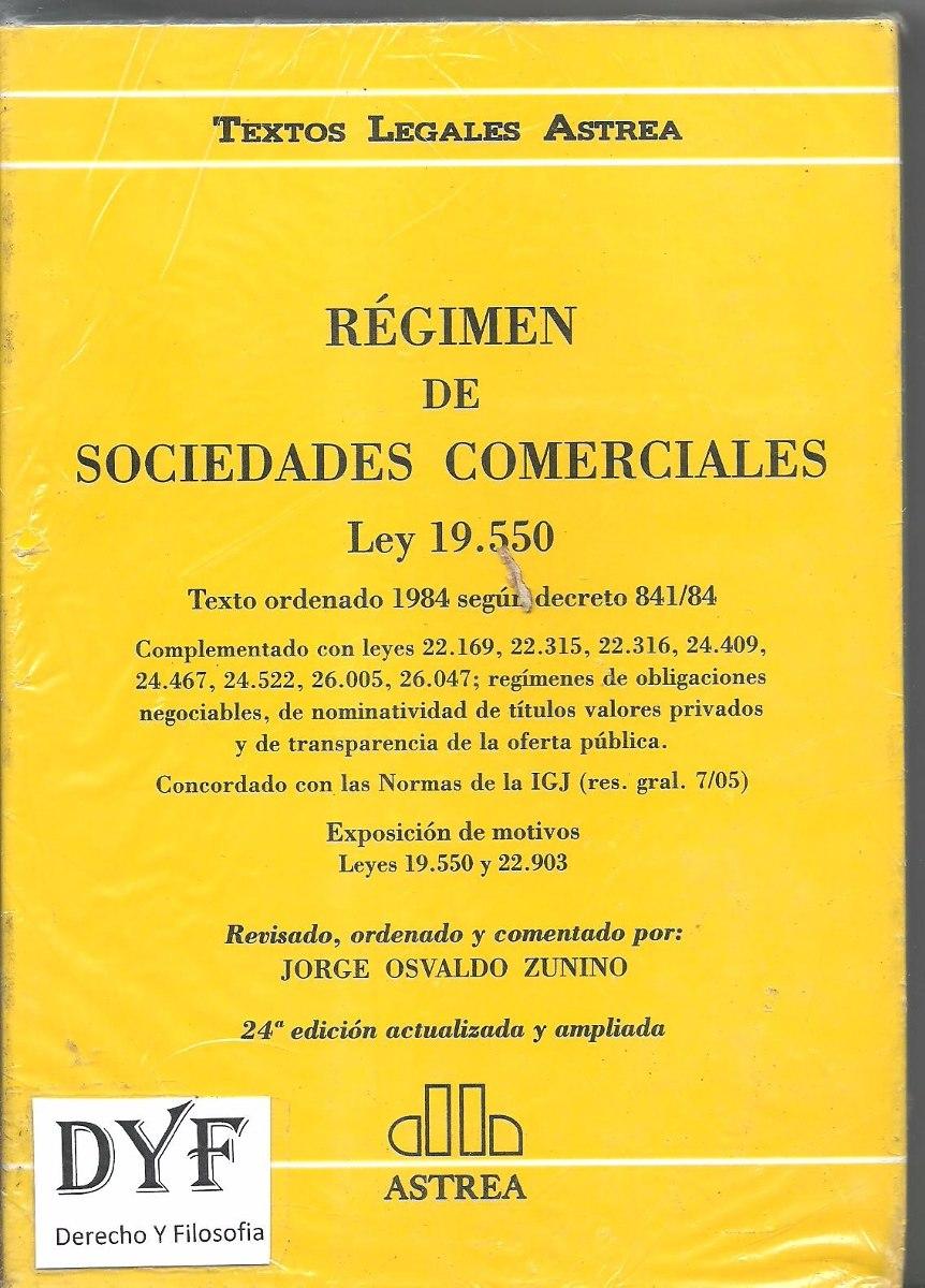 ley de sociedades comentada zunino