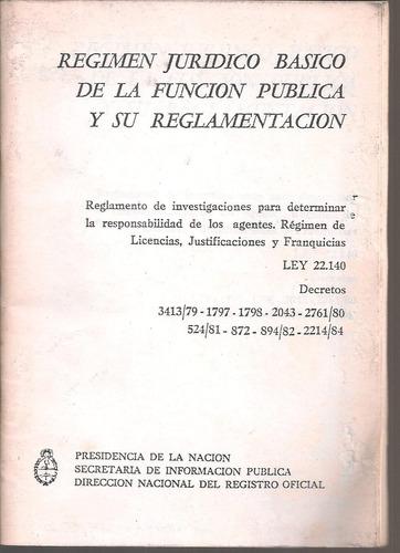 régimen jurídico básico de la función pública 22.140