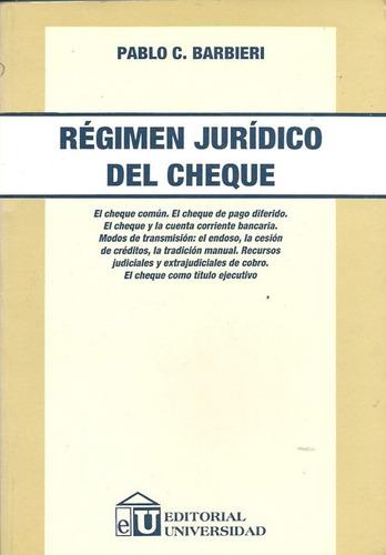 regimen juridico cheque - barbieri dyf