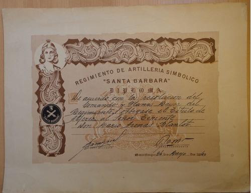 regimiento de artillería simbólico santa barbara diploma