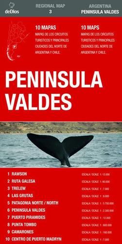 regional map nº 3: península valdés. de dios guías de viaje.