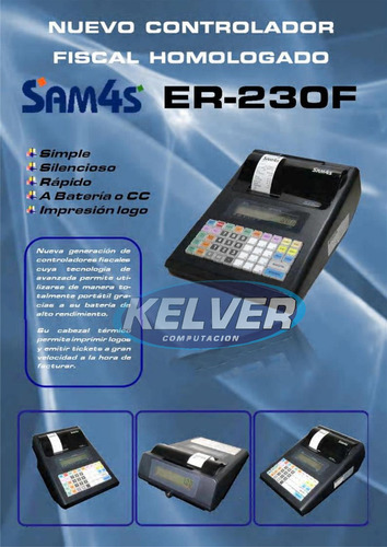 registradora controlador fiscal sam4s 230  entrega gratis!!!