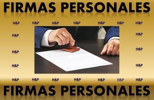 registro de firmas personales. documento legal