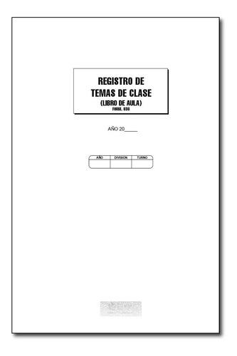 registro de temas de clase - libro del aula - form 838