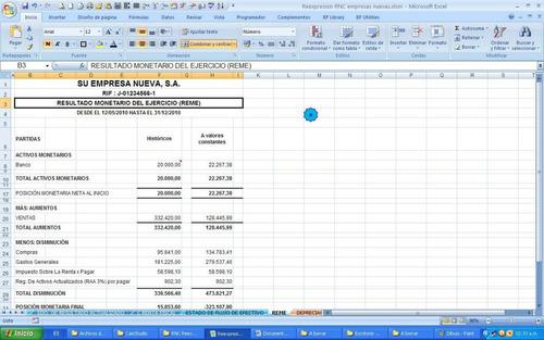 registro nacional de contratistas, reexpresión de estados fi