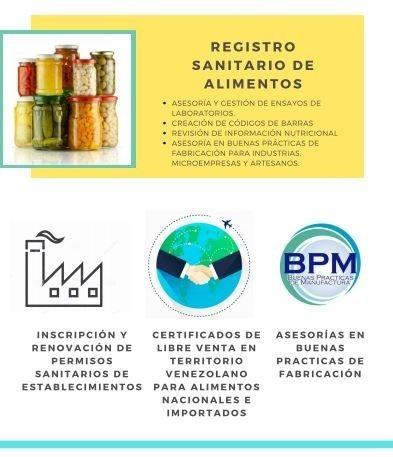 registro sanitario de alimentos detergentes importación
