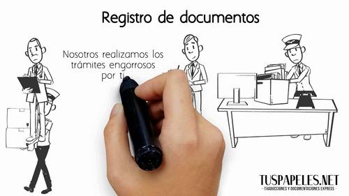 registro y legalización de documentos pesonales