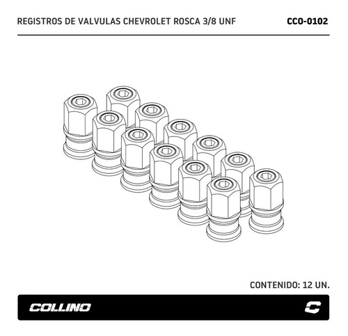 registros de valvulas collino chevrolet 230 250 6 cil
