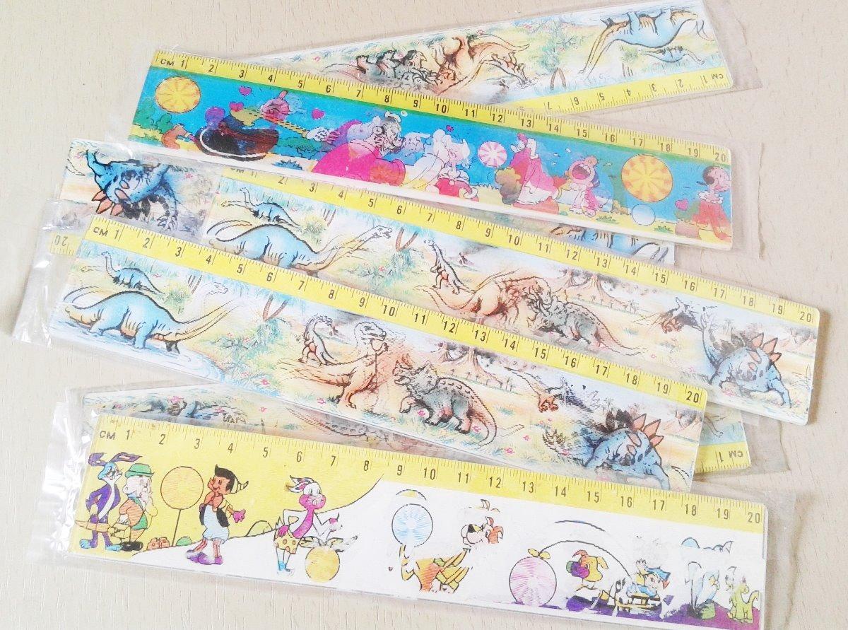 Regla 20 Cm Infantil Con Dibujos Que Se Mueven Pack X 4 5000