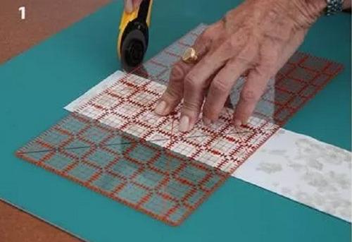 regla 6 1/2 x 12  pulg para patchwork en maquineria beiro