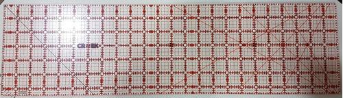 regla 6 1/2 x 24  pulg para patchwork en maquineria beiro