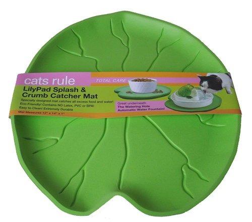 regla de los gatos lilypad splash y crumb catcher mat, verd