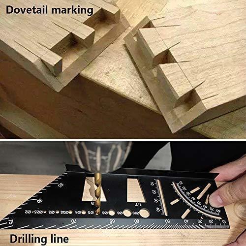 regla de medida de tamaño cuadrado de carpinteria de aleacio