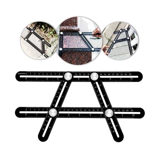 regla escuadra aluminio 4 angulos copiadora electroimporta