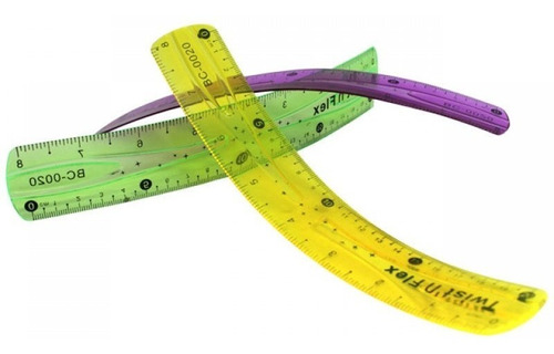 regla flexible 20cm util escolar basico duradera ctas