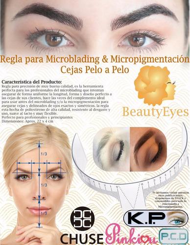 regla para diseño de cejas microblading micropigmentacion