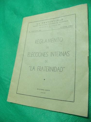reglamento de elecciones internas