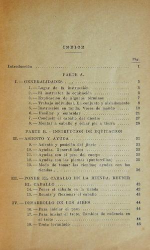 reglamento de equitación / 1° edición 1946