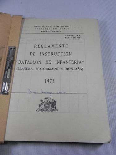 reglamento de instruccion batallon infanteria 1978 chile