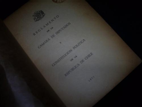 reglamento de la cámara de diputados y constitución politic
