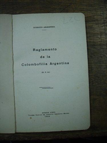 reglamento de la colombofilia argentina - ejercito argentino