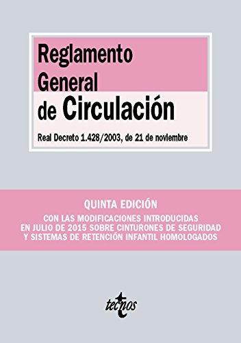 reglamento general de circulación. real decreto envío gratis