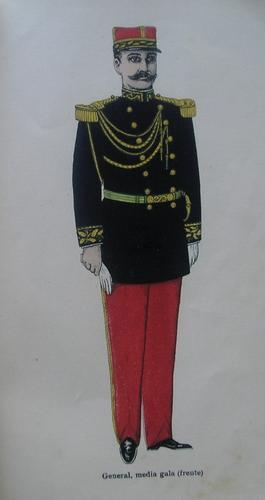reglamento uniformes militares  costa rica año 1907 laminas