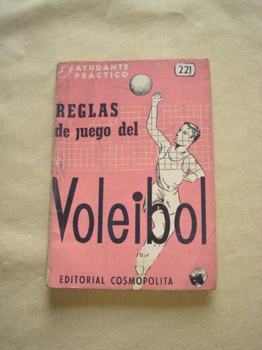 reglas de juego del voleibol. editorial cosmopolita. 1973