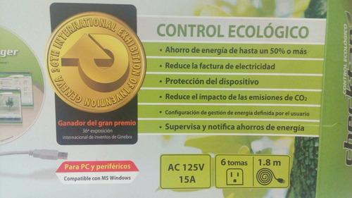 regleta control ecologico pc y pereferico d 6 tomas checktap