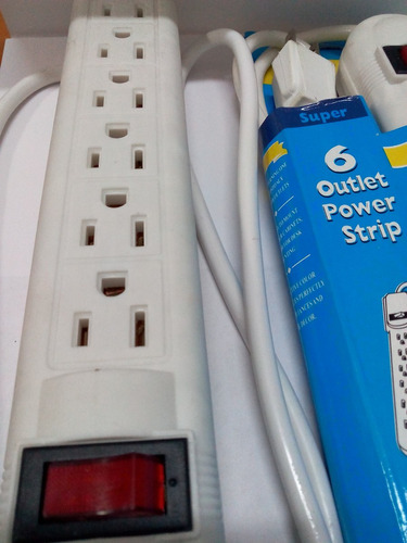 regleta electrica 110 volt d 6 tomas con switch de apagado
