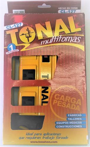 regleta industrial multitoma 8 tomas marca tonal - cl-127